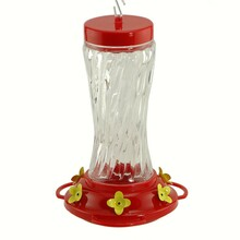 16 oz Swirl Glass Hummingbird Feeder