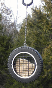 Unique Woodpecker bird feeder for your backyard.
