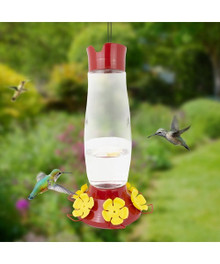 48 oz, top filling hummingbird feeder