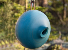 Ellipse Blue Birdhouse