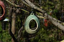 Egg Fly Through Birdfeeder Green