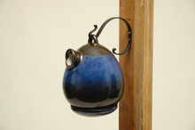 Egg Birdhouse Cobalt Blue