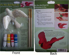 Cardinal Fly Thru Bird Paint Kit