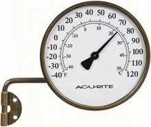 Outdoor Metal 4 inch diameter Thermometer (Swing Arm)
