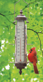 Bird Feeder Thermometer 1 lb capacity Bronze Patina