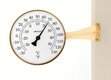 Vermont Large Dial Thermometer Living Finish Brass