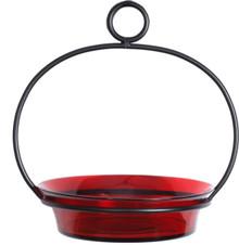 Red Cuban Bowl Birdbath