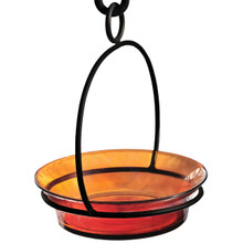 Orange Cuban Bowl Birdbath