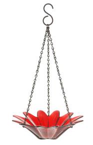 8 inch Daisy Birdfeeder Red