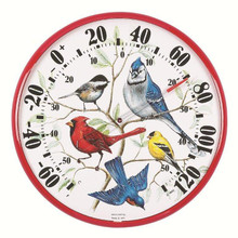 Designer Edition 12 1/2 inch In/Outdoor Songbirds Thermometer