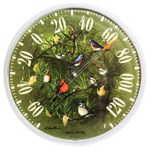 Evergreen Songbirds Thermometer