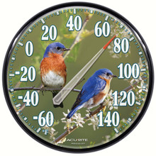 James Hautman 12 1/2 inch In/Outdoor Bluebird Thermometer