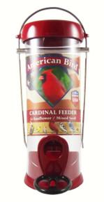 American Bird Cardinal Feeder Red 8 inch