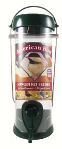 American Bird Songbird Feeder Green 8 inch