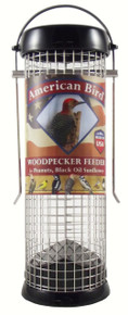American Bird Woodpecker Feeder Black 9 inch