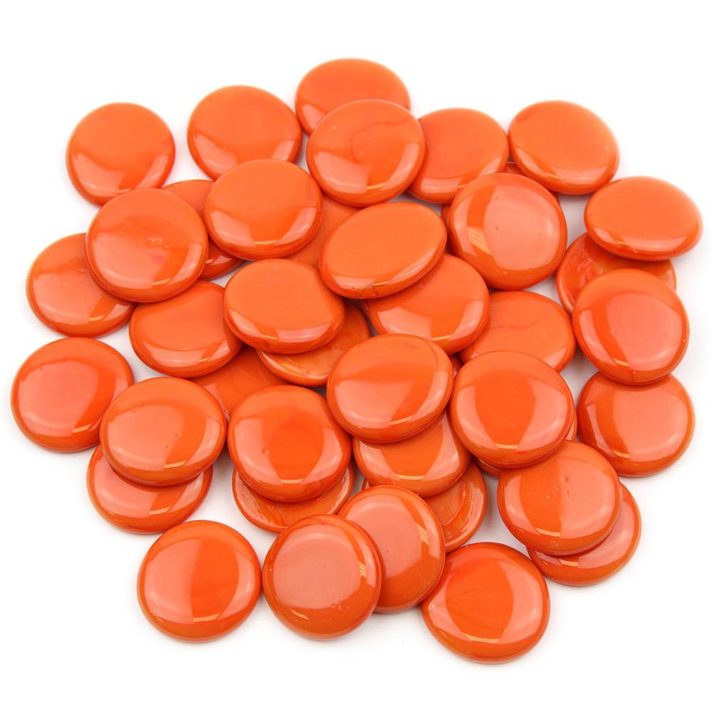 Orange Large Glass Gems