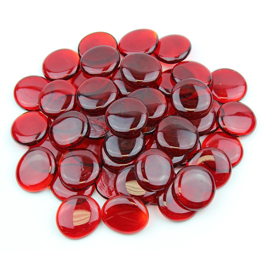 Red Large Glass Gems