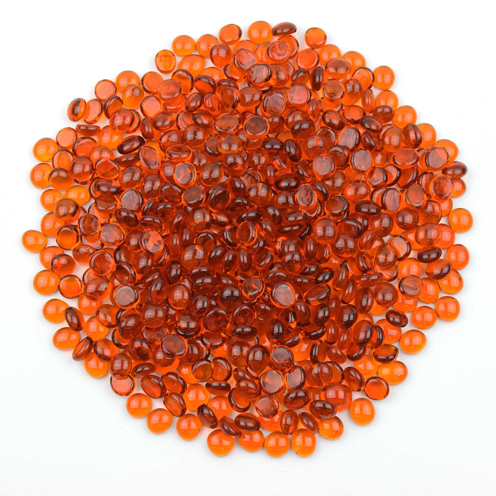 Orange Glass Gems