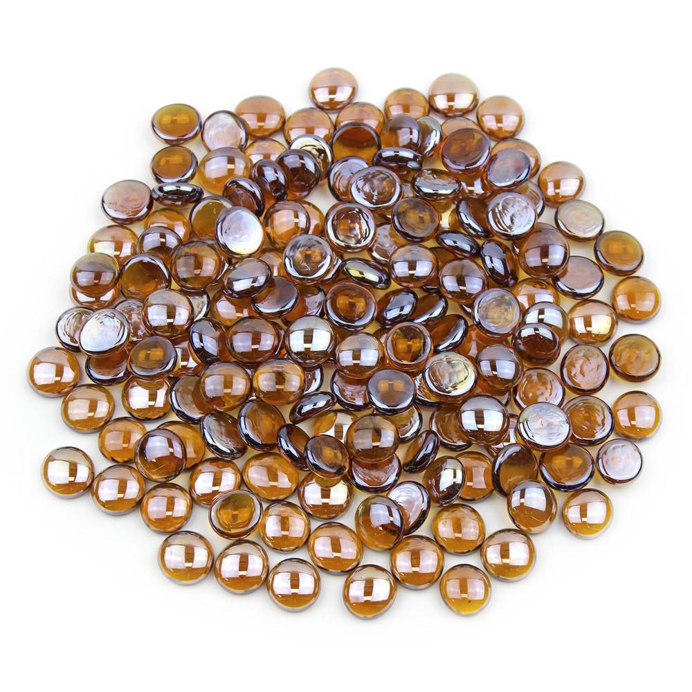 Amber Luster Glass Gems