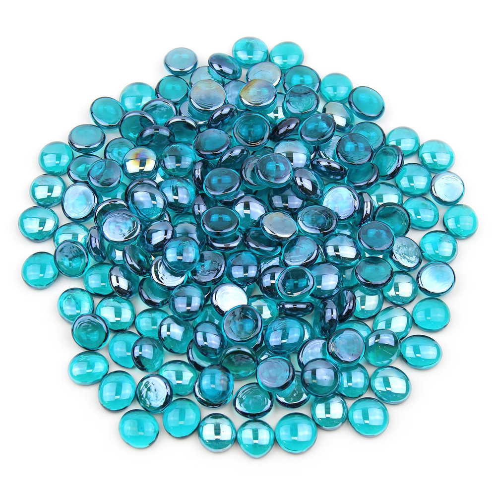 Teal Glass Gems