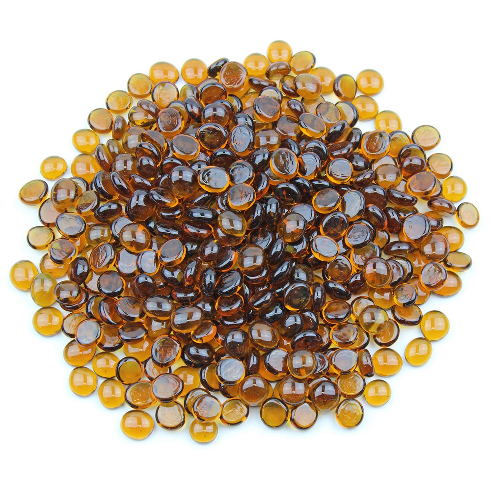 Amber Glass Gems
