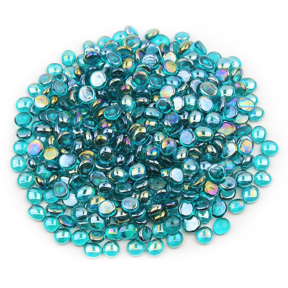 Teal Luster Glass Gems