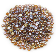 Amber Luster Glass Gems
