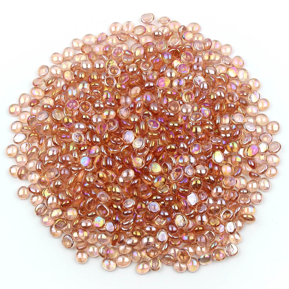Pink Luster Glass Gems