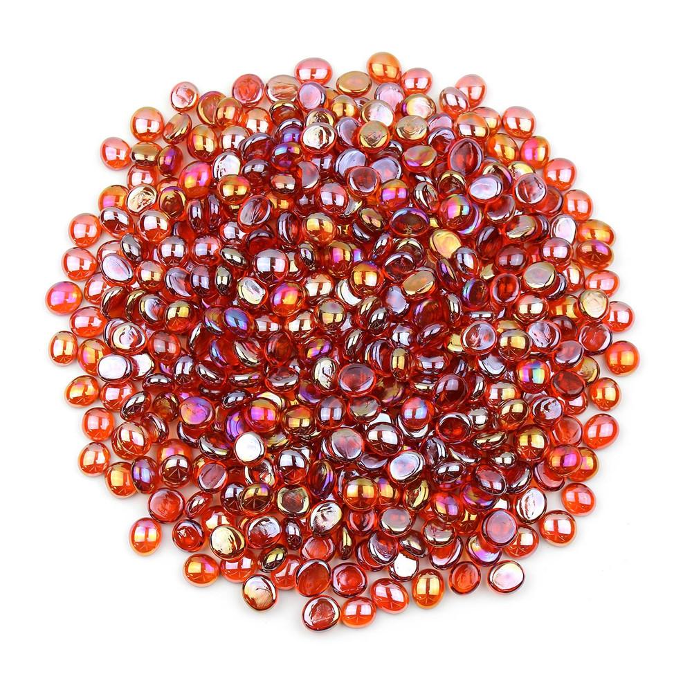 Orange Luster Glass Gems