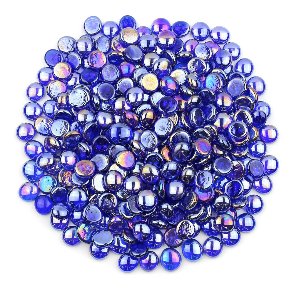 Sapphire Blue Luster Glass Gems