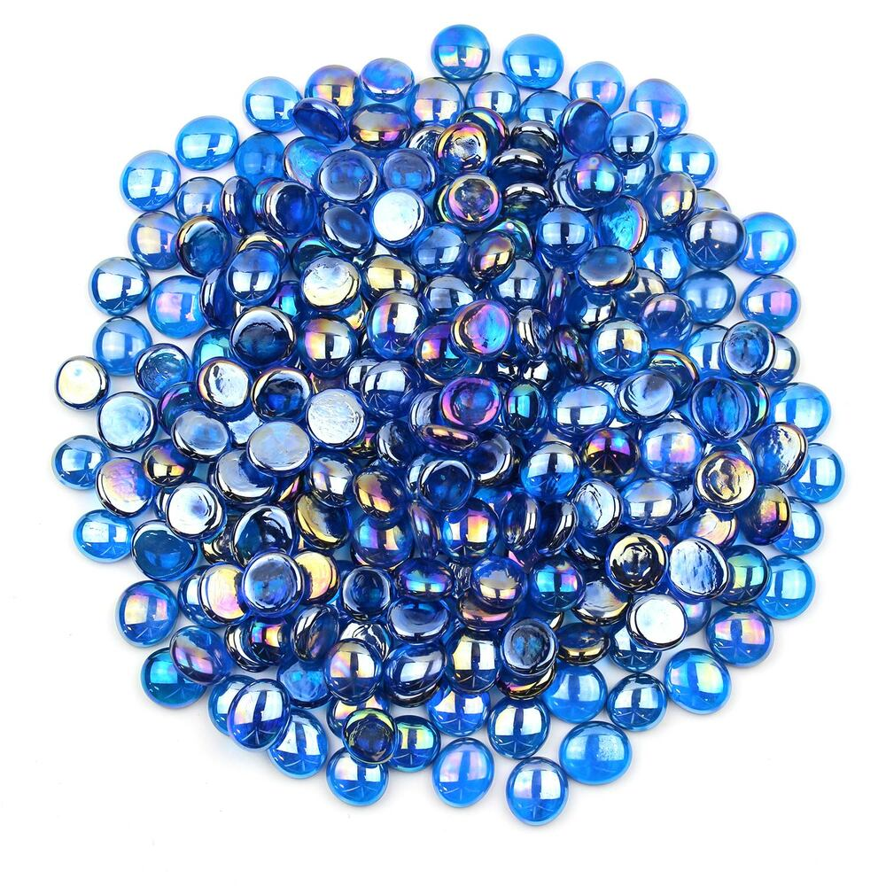 Blue Luster Glass Gems