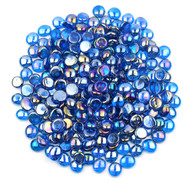 Blue Luster Glass Gems