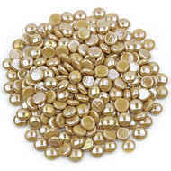Latte Opaque Luster Glass Gems
