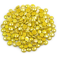 Yellow Opaque Luster Glass Gems