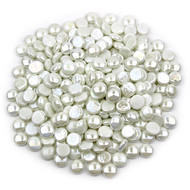 White Opaque Luster Glass Gems