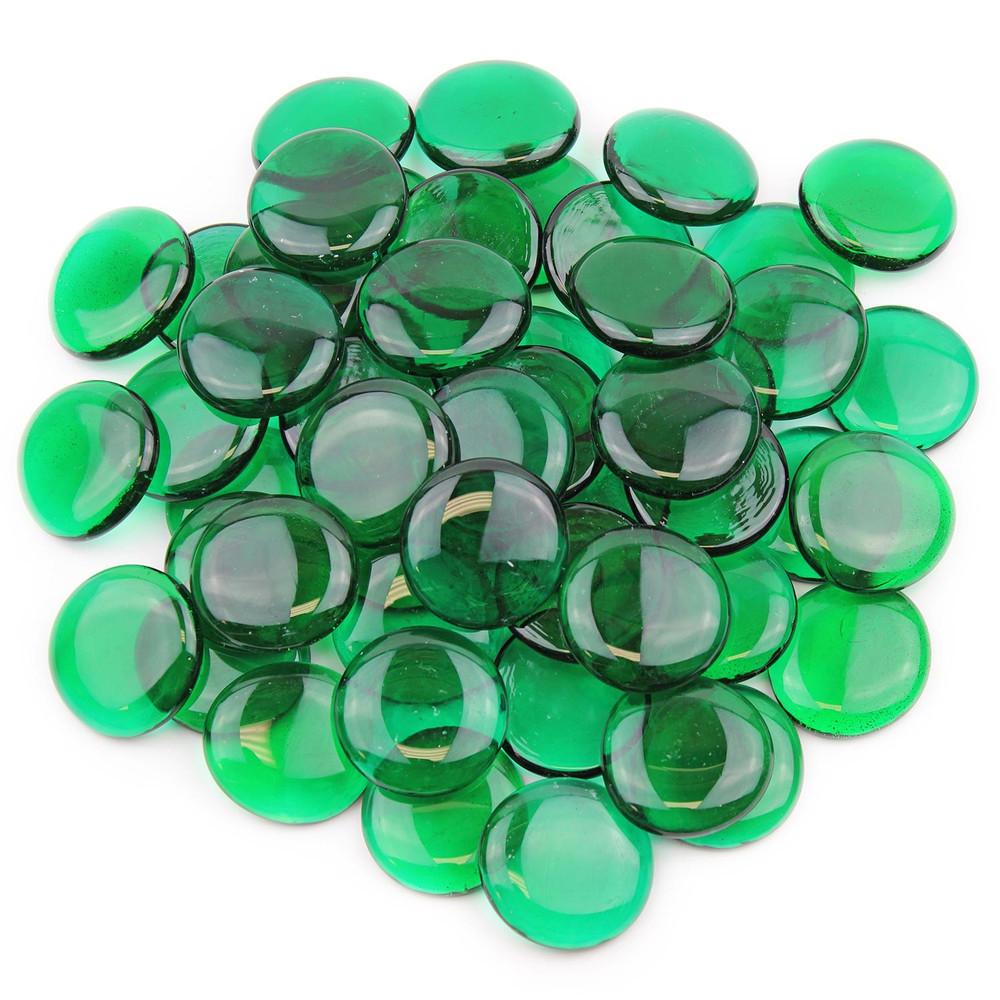 Large Emerald Green Glass Gems