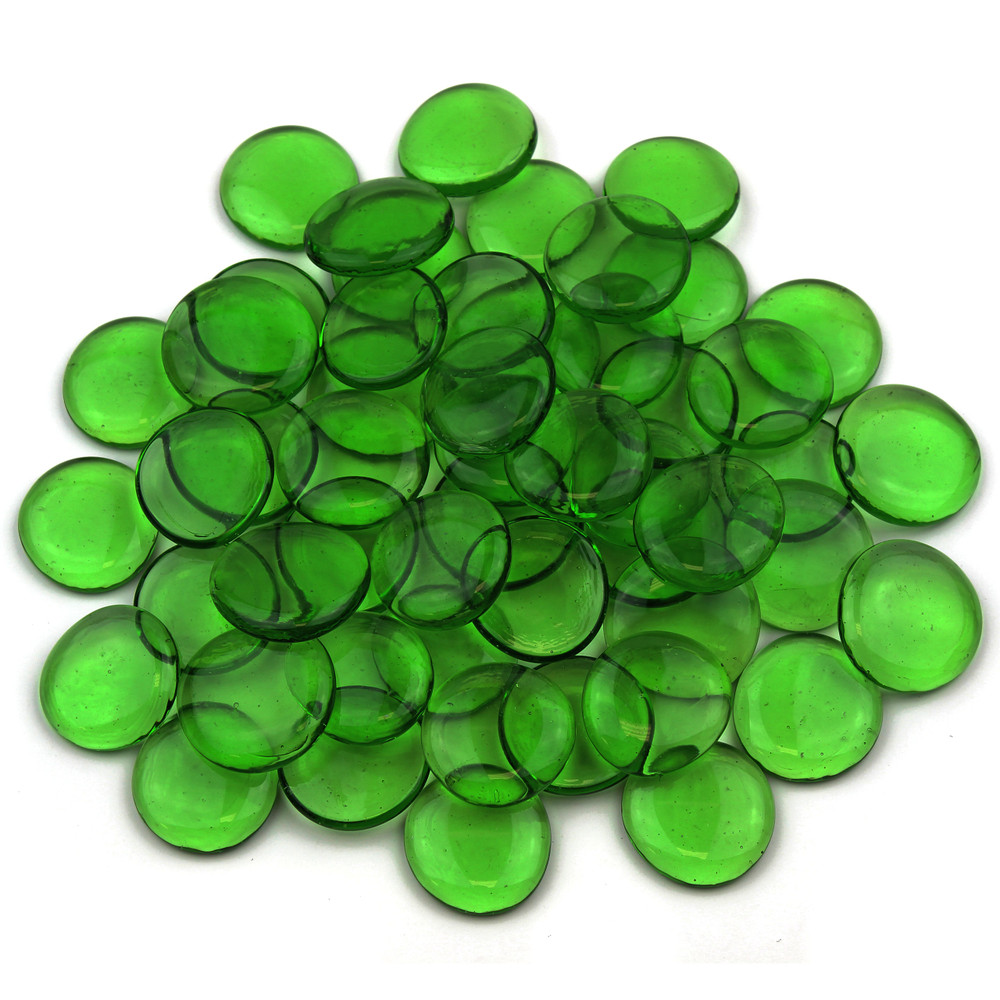 Large Green Glass Gems