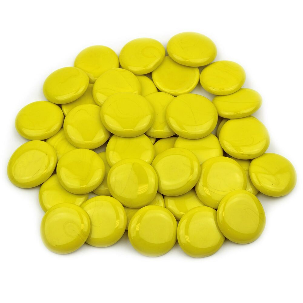 Large Yellow Opaque Glass Gems