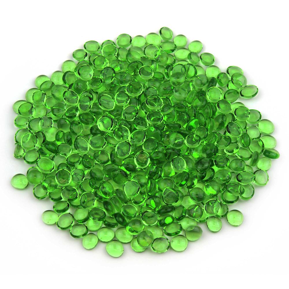 Mini Glass Green Gems