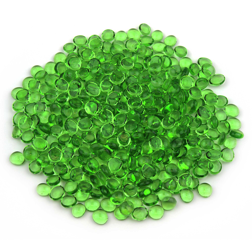 Mini Glass Green Gems