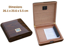 Small Humidor with digital hygrometer