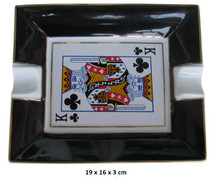Two Cigar Ceramic Ashtray - Card
