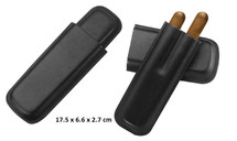 Two Cigar Leather Cigar Holder - Straight