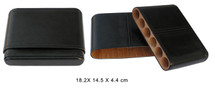 Six cigar leather case