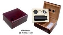 Humidor Gift Set - Cherry