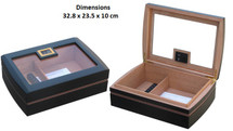 Compact  Humidor with Digital Hygrometer