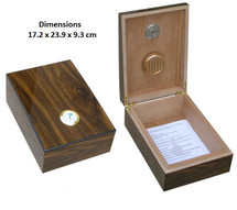 Small Desktop Humidor - Walnut