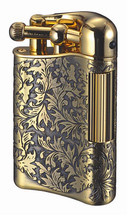 Sarome PSD12 Flint Lighter - Antique Brass