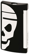 S.T. Dupont MiniJet Lighter - Black with White Skull