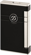 S.T. Dupont Line 2 Torch Lighter - Black Lacquer and Palladium